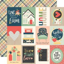 """Simple Stories So Happy Together Double-Sided Cardstock 12""""X12"""" 25/Pkg - 3""""X4"""" Elements"""
