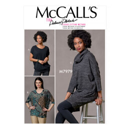 McCall's Misses' Tops and Tunic M7979 - Sewing Pattern