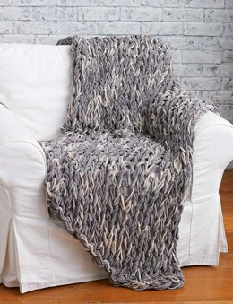 Arm Knit 3-Hour Blanket in Bernat Blanket