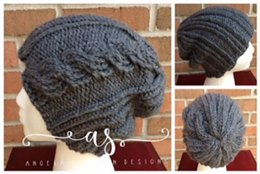 Ribbed Cable Beanie