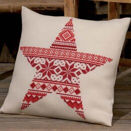 Permin Christmas Pattern Cushion Cross Stitch Kit