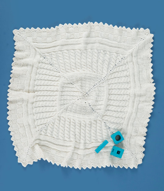 Free Knitting Pattern 80115ad Winter Lace Afghan Lion : Aran Sampler Blanket in Lion Brand Superwash Merino ...