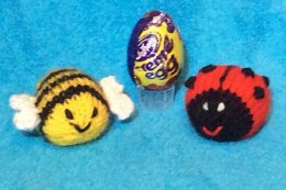 Bee and Ladybird Creme Egg Choc Cover