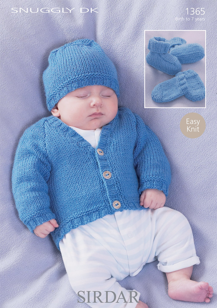 BABY DK KNITTING KIT YARN NEEDLES PATTERN KNIT BOOTEES MITTS HELMET BLUE PINK