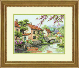 Dimensions Village Canal Cross Stitch Kit - 33cm x 25.5cm