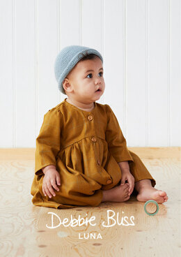 """Isabel Hat"" - Free Hat Knitting Pattern For Babies in Debbie Bliss Luna"