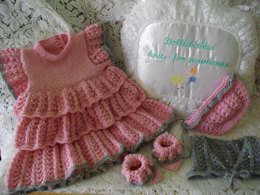 34. Prem-0/3 Months Rara Dress Set