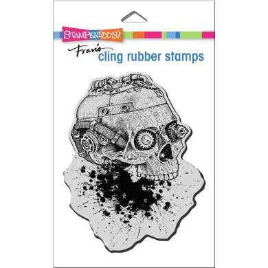 Stampendous Cling Stamp - Steampunk Skull