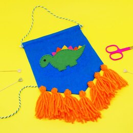 The Make Arcade Dino Tassel Banner