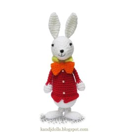 White Rabbit from Alice in Wonderland - PDF Amigurumi crochet pattern