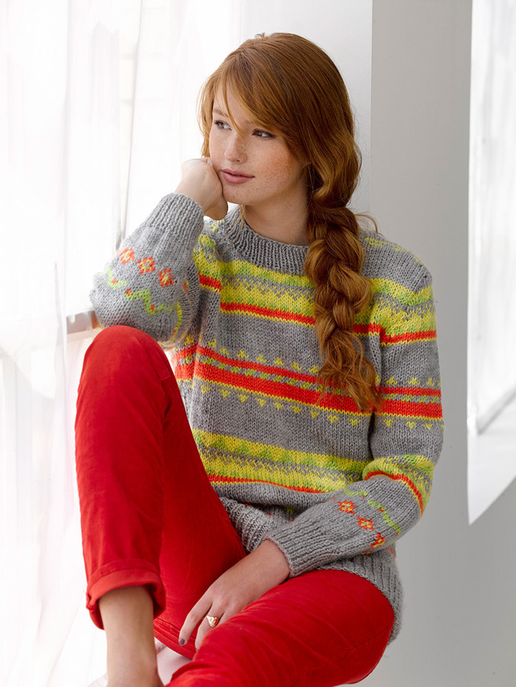 Electric Avenue Pullover in Lion Brand Vannas Choice - L30232 Knitting...