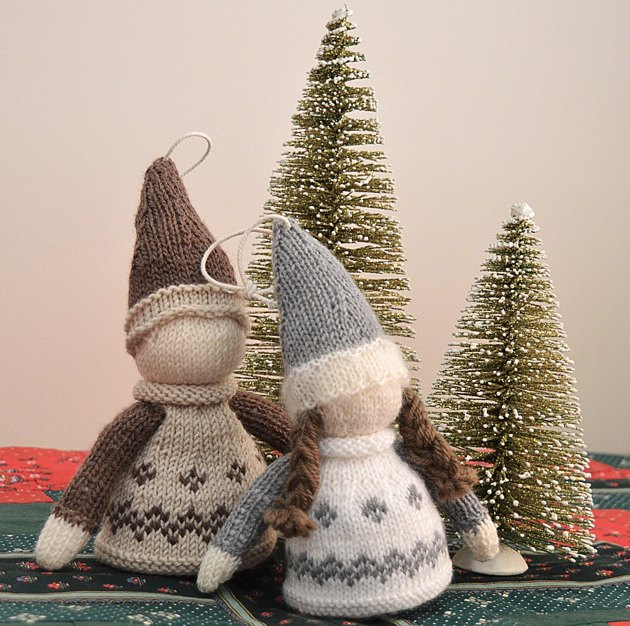 Nordic Knitting Patterns Free : Nordic Christmas Ornament - P080 Knitting pattern by OGE Knitwear Designs