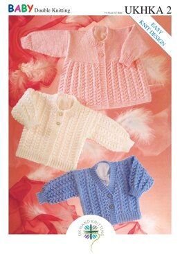 Cardigans and Matinee Coat in King Cole Baby DK - UKHKA2pdf - Downloadable PDF