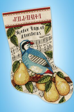 Design Works Partridge Stocking Counted Cross Stitch Kit