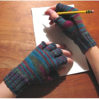 Fitted Fingerless Gloves