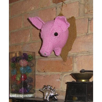 Wall Mounted Pig's Head