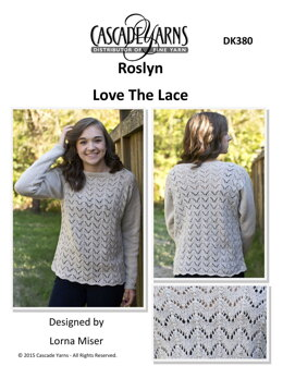 Love the Lace Sweater in Cascade Yarns Roslyn - DK380 - Downloadable PDF
