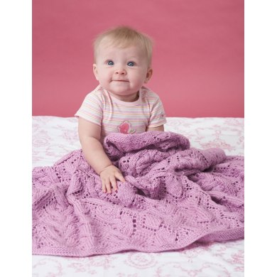 Cable And Lace Blanket in Bernat Baby Sport Knitting ...