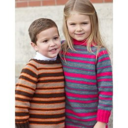 Top Down Super Stripes Sweaters in Patons Astra