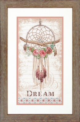 Dimensions Floral Dreamcatcher Cross Stitch Kit - 20.32cm x 38.10cm