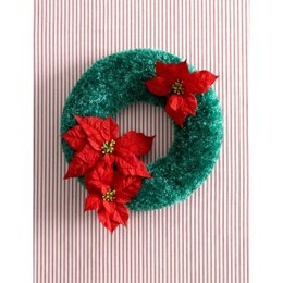 Christmas Wreath in Bernat Boa Holidays