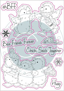 Craft Consortium A5 Clear Stamps - BFF, Polar Playtime