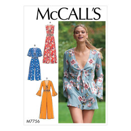 McCall's Misses' Jumpsuits and Romper M7756 - Sewing Pattern