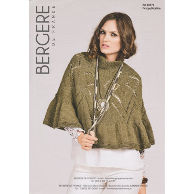 Poncho in Bergere de France Pure Nature - 33979