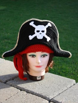 Adult Pirate Hat and Scarf