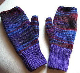 Easy Two-Needle Fingerless Gloves