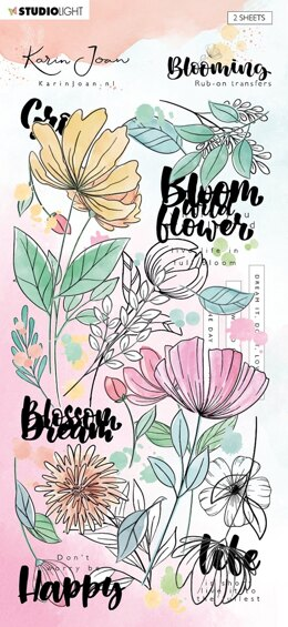 Studio Light Karin Joan Blooming Collection Rub On Stickers - NR. 01