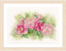 Lanarte Bouquet of Peonies Cross Stitch Kit - Multi