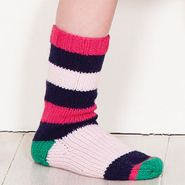 Camilla Striped Socks in MillaMia Naturally Soft Merino