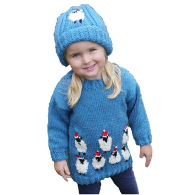 Christmas Sheep Sweater and Hat