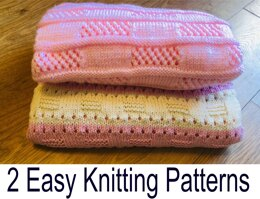 2 Easy Knitting Patterns - Candy Stripe and Easy Lace