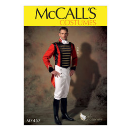 McCall's Men's Embellished Jacket, Pull-On Pants and Cravat M7457 - Sewing Pattern