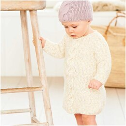 Baby's Dress, Hat and Jumper in Rico Baby Dream Luxury Touch Uni DK - 1040 - Downloadable PDF