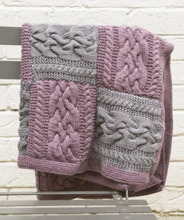 """Lapp Blanket"" - Blanket Knitting Pattern in MillaMia Naturally Soft Aran"