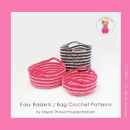 Easy Baskets or Bag Crochet Patterns