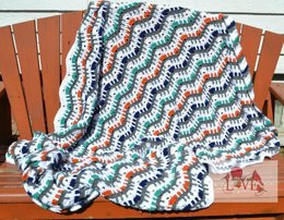Picket Fence Ripple Afghan