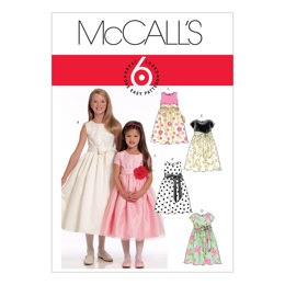 McCall's Children's/Girls' Lined Dresses and Sash M5795 - Sewing Pattern