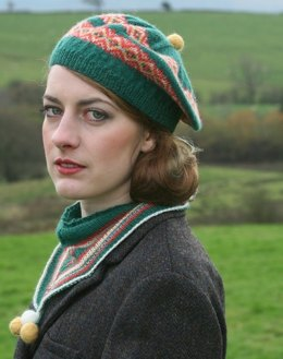Noblesse Oblige Scarf and Beret in Susan Crawford Fenella 2 Ply