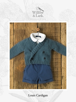 Louis Cardigan in Willow and Lark Nest - Downloadable PDF