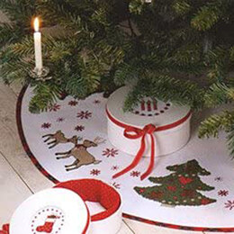 Rico Winter Forest Tree Skirt - 90cm Diameter - Green