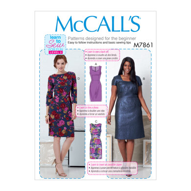 McCall's Misses' and Women's Dresses M7861 - Sewing Pattern