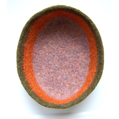 Oval Felted Bowl