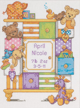 Dimensions Baby Drawers Birth Record Cross Stitch Kit - 23 x 30 cm