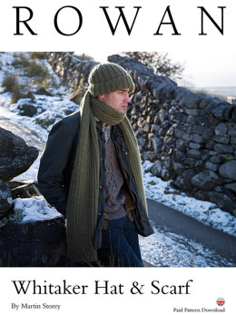 Whitaker Hat and Scarf in Rowan Cocoon - D208 - Downloadable PDF