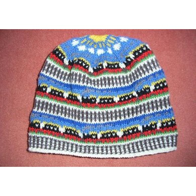 Train fair isle beanie