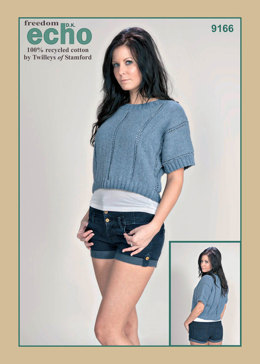 Cropped Boxy Top in Twilleys Freedom Echo DK - 9166